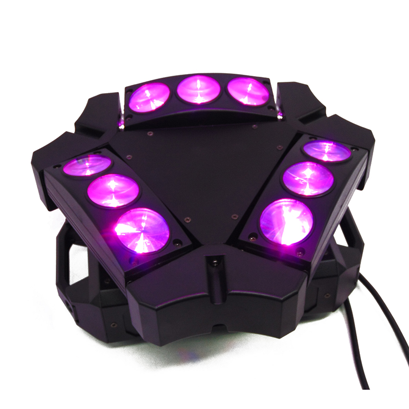 Image 5 - New Arrival MINI LED 9x10W LED Spider Light RGBW 16/48CH DMX Stage Lights Dj LED Spider Moving Head Beam Light-in Stage Lighting Effect from Lights & Lighting on