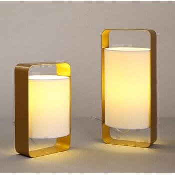 Modern nordic minimalist table lamp creative art deco warm lron LED desk light for living room bedroom bedside lamp study e27