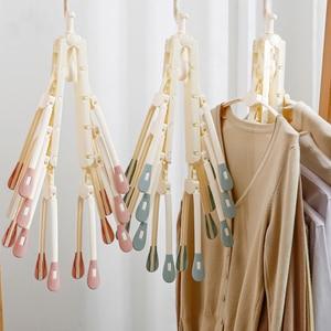 Image 5 - [8 דגי עצמות] VOZRO מייבש ייבוש בגדים מתלה קולבי עבור נפילה ילדים חיצוני תליית כביסה Stand טלסקופים