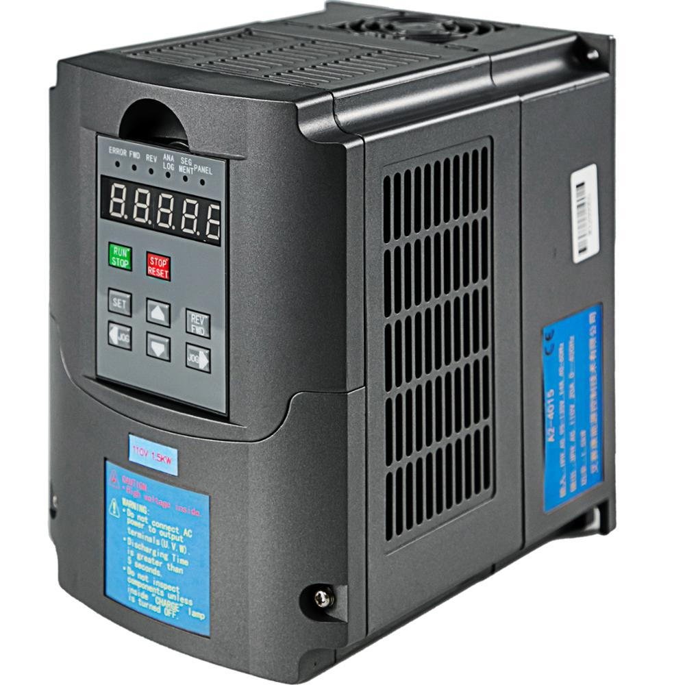 VEVOR 0.75/1.5/2.2/3.0/4.0/7.5KW 220V VFD Variable Frequency Drive CNC VFD Motor Drive