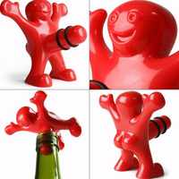 1PC Dolphin Wine Stopper Novelty Bar Tools Man Vacuum Glass Wine Cork Bottle Stopper Plug OK 0774