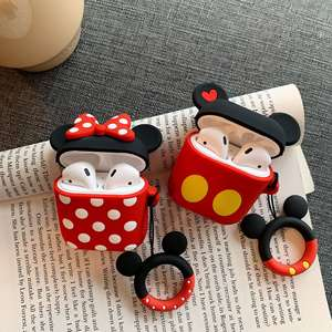 Disney Coin Purse Airpods-Protective-Cover Bluetooth Drop-Lanyar Wireless Cartoon Headset-Set