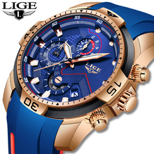 LIGE Mens Watches Top Brand Luxury Milit