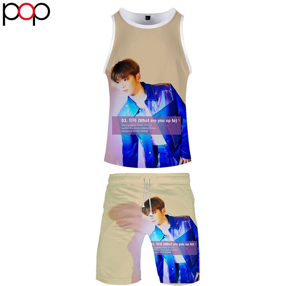Ginger Daniel 3D Summer Men Causal Beach Sleeveless Vest Sleeve Shorts Sweatsuit+Pants Quick-dry Tracksuit Men's Sports Suits