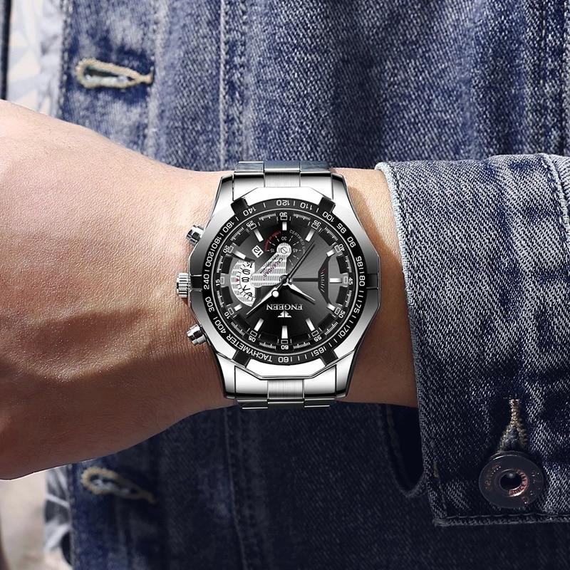 2021 Top Brand Luxury Watch Fashion Casual Military Quartz Sports Wristwatch Full Steel Waterproof Men's Clock Relogio Masculino 6