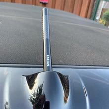 12cm De Fibra De Carbono de Rádio de Curto Antena para Mini Cooper S R56 R50 F56 R53 F55 JCW R60 R55 R52 R57 R58 R59 F57 Clubman Carro Styling
