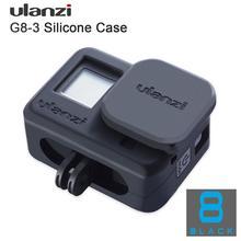 Ulanzi G8 3 Vlog funda protectora suave con tapa de lente de cámara para GoPro Hero 8, funda de silicona a prueba de gotas para Vlogging, Kit de jaula