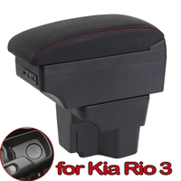 Armrest Box for Kia Rio 3 2011-2016 PU Leather Central Container Storage Box Car Styling Accessories