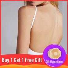 Women Sexy Bra Thin Cotton Backless Bras Lingerie Nightwear Free shipping bralette bras for women lenceria