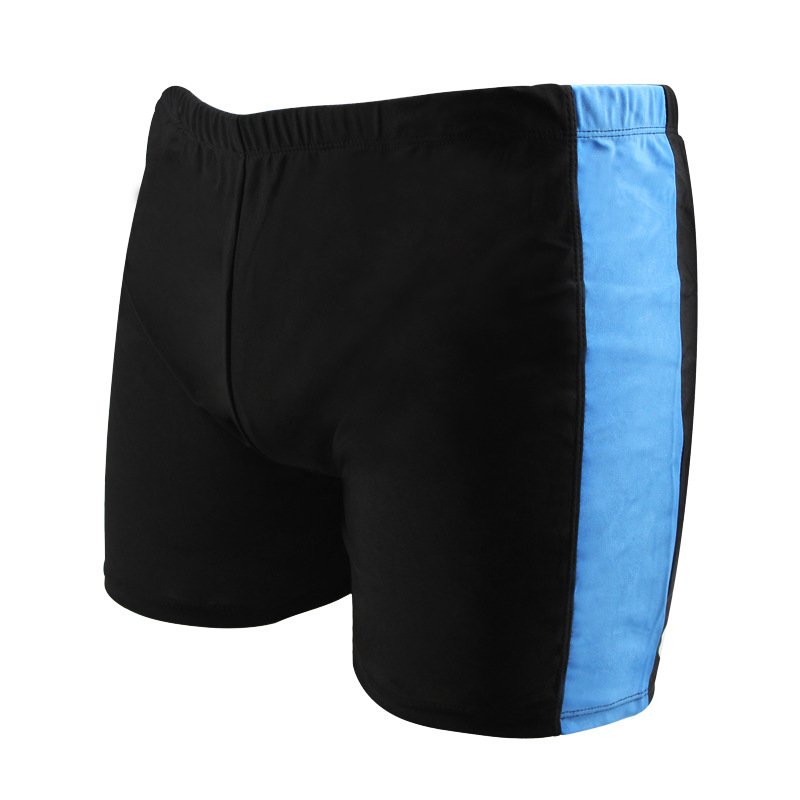Plus-sized Menswear Boxer Hot Springs Swimming Shorts Breathable Thin Beach Men's Bathing Suit Stripe Spell Color Swimming Trunk
