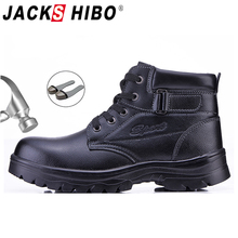 JACKSHIBO Motorcycle Safety Work Shoes Boots For Men Steel Toe Head Safety Shoes Anti-smashing Security Work Shoes Boots safety shoes steel toe sole for men anti smashing work boots work safety protective shoes men shoes