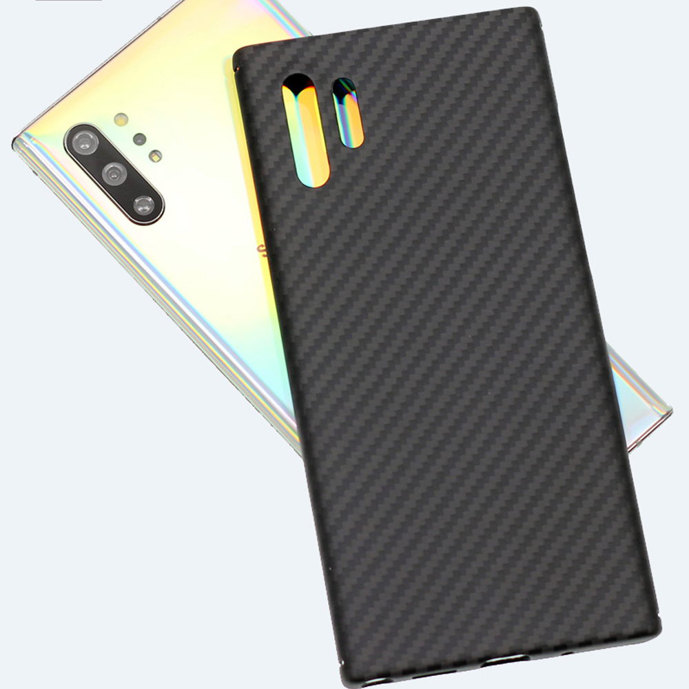 Carbon Fiber Case for Samsung Galaxy S8 S9 S10 Plus Note 10 9 Ultra-thin Cover Case Protective Aramid Fiber Cover Coque Funder