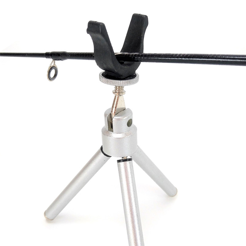 Folding Ice Fishing Rod Holder Small Triangle Bracket Winter Ice Fishing Pole Fishing Tackle Support Stand