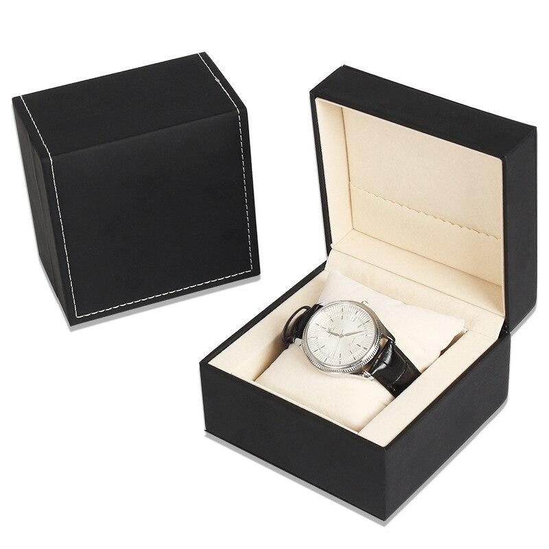Venta al por mayor 2019 reloj de cuero de lujo a la moda caja de regalo