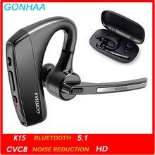 Bluetooth fone de ouvido sem fio bluetooth fones de ouvido hd com cvc8.0 função de redução de ruído de duplo-microfone, adequado para telefones inteligentes
