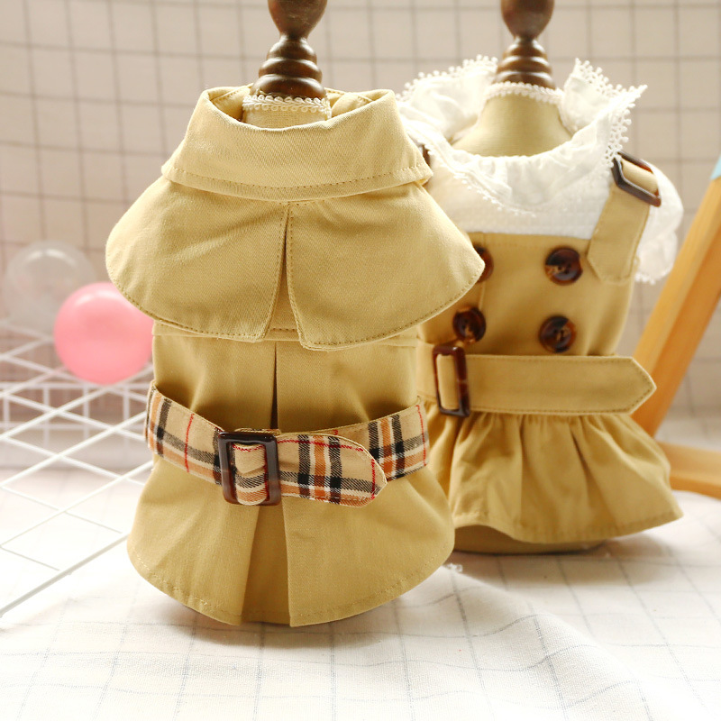 Spirng Summer Dog Clothes Handsome Trench Coat Dress Pets Outfits Warm Clothes for Small Dogs Costumes Jacket Puppy Shirt Dogs 1
