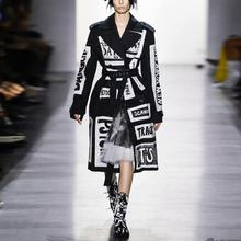 Windbreaker jacket 2019 autumn and winter new women's lapel
