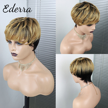 Pre Plucked Pixie Cut Wig For Black Women Pixie Wig Human Hair  Short Water Wave No Lace Wig