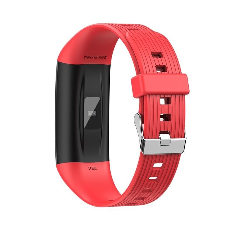 H3118561ae04745abaa275bb01d64eff7O R12 Smart Band Bracelet Fitness Bracelet with Pressure Measurement Health Wristband Pedometer Heart Rate Monitor Cardio Bracelet