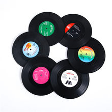Topfinel Vinyl Record Table Mats 6 pcs Drink Coaster Table Placemats Heat-resistant Nonslip Pads Home Decor Creative Cup Coaster