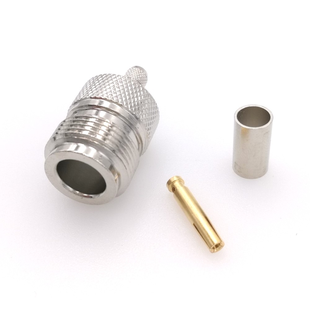 50 ohm Coax   connectors 10 pcs   N  Male   for RG-58,LMR-195,LMR-200