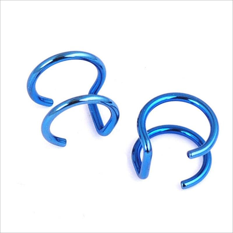 New Fashion 5 pcs 5 style Punk Rock Ear Clip Cuff Wrap Earrings No piercing-Clip Hollow Out U Pattern Statement jewelry Gift 3