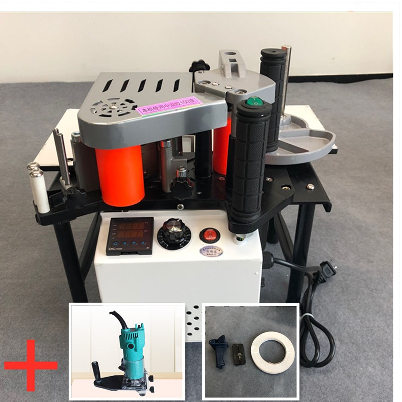 Woodworking Machinery Edge Banding Machine PVC Portable Edge Banding Machine 220V / 110V 1200W