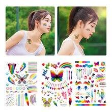 Одноразовые радужные наклейки с татуировками Защита окружающей