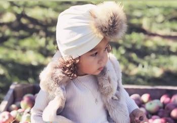 תינוק הודי כובע טורבן כובעי אביב סתיו ילדי קטיפה כובעי קיד כפה pompom כובע חם ילדה כובעים