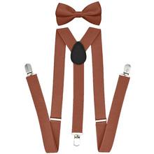 Szelki męskie Bowtie Set chłopcy kobiety dorośli szelki regulowane elastyczne muszki spodnie klipsy szelki paski szelki WY tanie tanio ISHOWTIENDA Poliester Dla dorosłych Stałe Moda Suspender 30cm