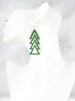Nowa moda prosty styl drzewo drewniane spadek kolczyki biżuteria dla kobiet tanie i dobre opinie Natural World Ze stopu cynku TRENDY AF-1110 kolczyki wiszące Strzałka Drewna Kobiety