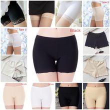 Gelo de seda legal alta elasticidade sob saia shorts femininos sob saia plus size sexy laço anti atrito coxa segurança shorts