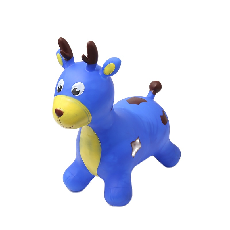 58CM Baby Ride on Animal Deer Jumping Horse Children Inflatable Bouncing Sports Toys for Kids
