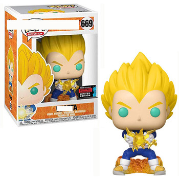 FUNKO POP Dragon Ball Vegeta 445 Vinyl Action Figures Original Box 10CM Collection Model Toys for Children Gifts 1