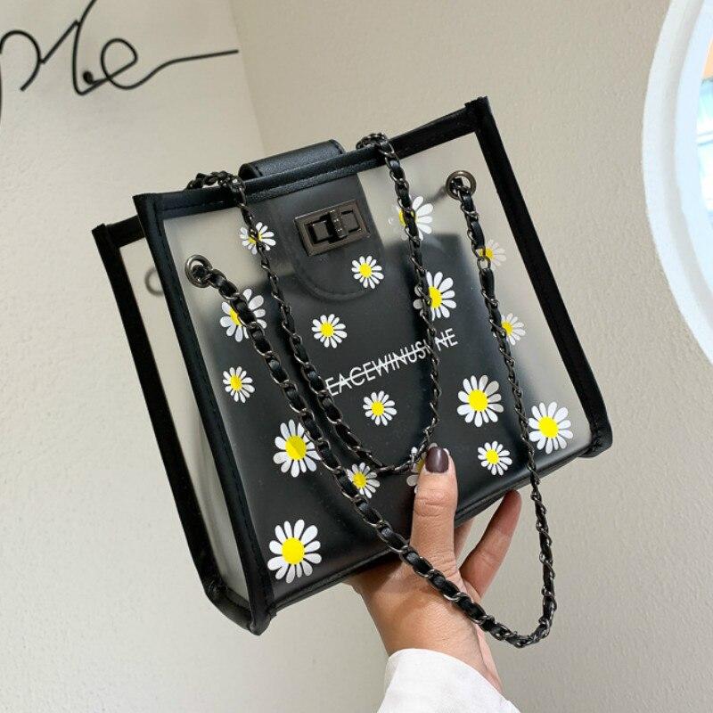 Женская сумка через плечо Daisy, женская сумка, новая модная универсальная прозрачная сумка с цепочкой, женские сумки, сумочки, клатчи для женщин|Сумки с ручками|   | АлиЭкспресс