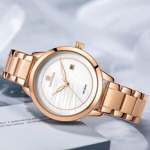Image 4 - Naviforce relógio feminino, relógio de marca de luxo simples de quartzo, relógio de pulso à prova d água, moda feminina, relógios casuais, menina, relógio