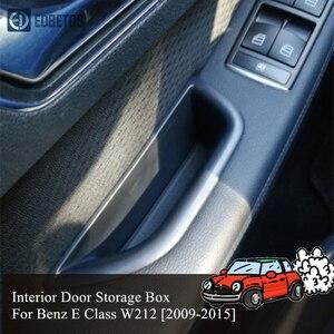 Аксессуары для Benz E Class W212, E200, E260, E320, ящик для хранения на передней двери автомобиля, органайзер, крышка, внутренняя отделка, 2009 2015, Стайлинг|Все для уборки|   | АлиЭкспресс