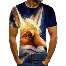 2021 summer new hot-selling lion tiger 3D printing T-shirt, fashion sports for men and women