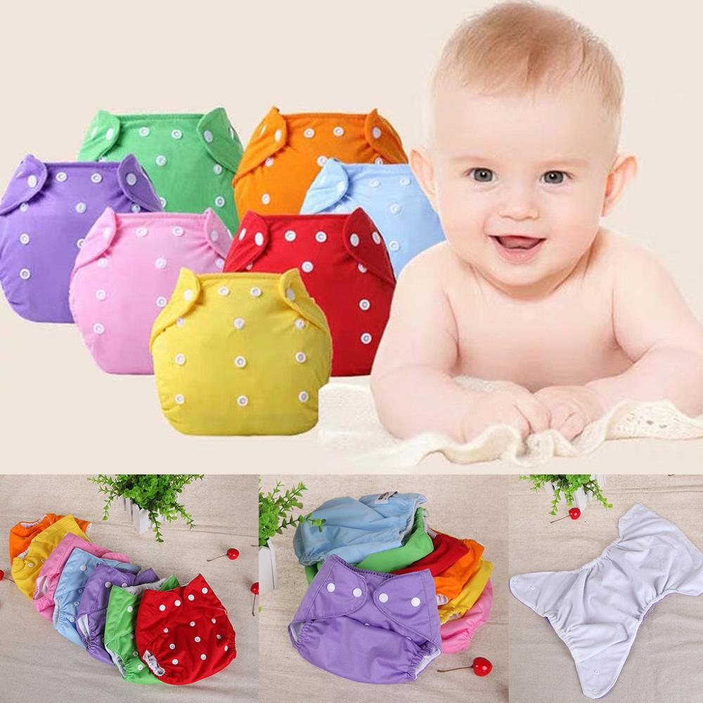 Newborn Baby Convenience Reusable Nappies Toddler Baby Solid Color Adjustable Diaper Infant Boys Girls Washable Cloth Diaper