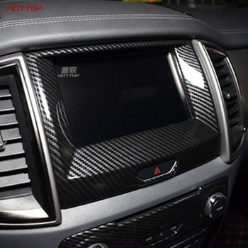 ABS Carbon Fiber Texture Black GPS Navigation panel Frame for Ford Everest 2016 Deluxe Edition / Ultimate edition image
