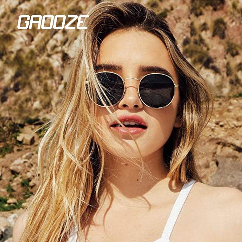 GAOOZE Sunglasses Women Round Glasses Women's Sunglasses Ladies Branded Fashion Sunglasses Retor Vintage Sun Glass Oculos LXD316