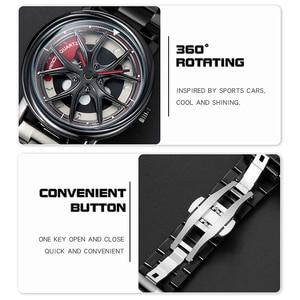 Image 4 - Men Watch Personality Car Wheel 360 Degree Rotating Waterproof Quartz Wristwatch Women SANDA Top Brand Luxury relogio masculino