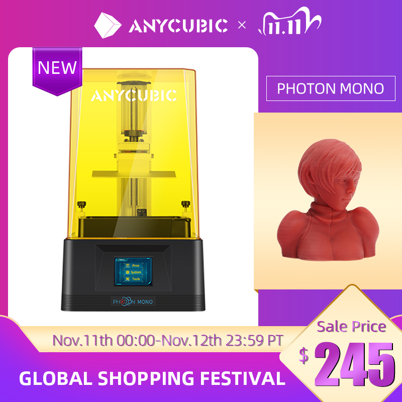 ANYCUBIC 3D Printer Photon Mono UV LCD Resin Printer with 6 Inch 2K LCD & Fast Printing Speed, Resin