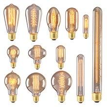 Bombilla Edison Retro E27 40w 220v ampolla bombilla Edison Vintage ST64 G80 bombilla incandescente lámpara Led candelabro decoraciones