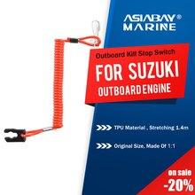 Interruptor de parada da matança do motor de popa marinho de suzuki para 2-425hp corda chave cordão de segurança