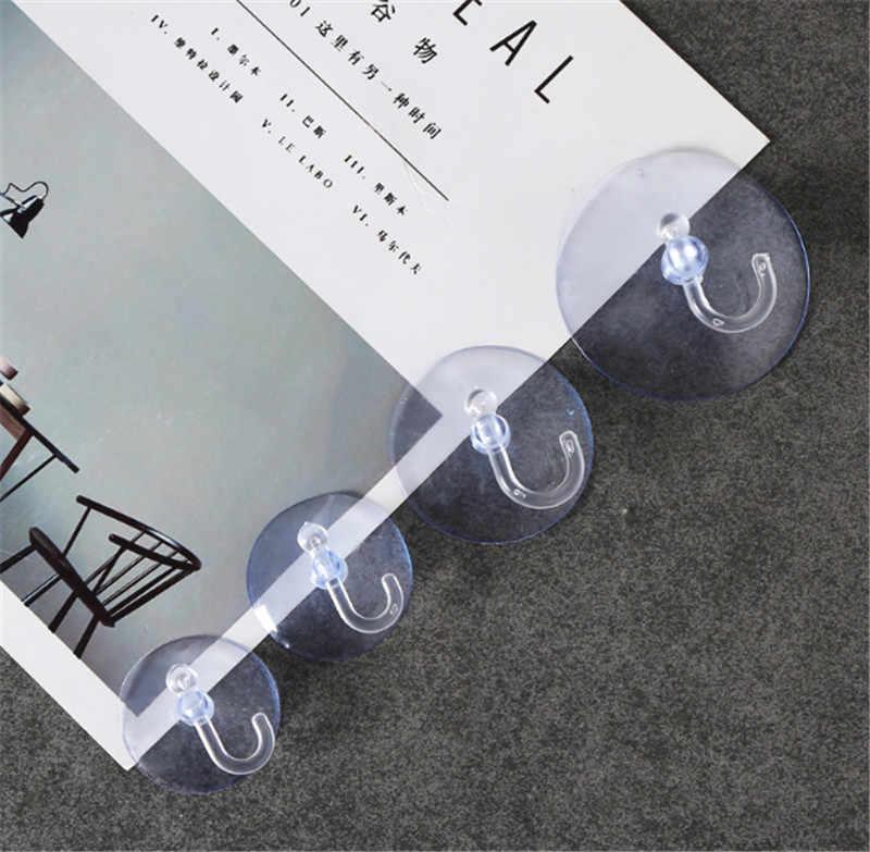 1 шт. негабаритных мощных вакуумных прочных прозрачных присосок настенные крючки бесплатно бесшовный крючок для ногтей вешалка для кухни ванной комнаты