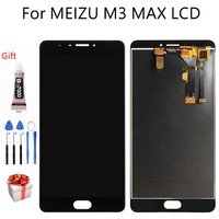 6.0 Original For MEIZU M3 MAX LCD Display Touch Screen AAA Quality Digitizer Assembly Replacement Free Tools+B 7000