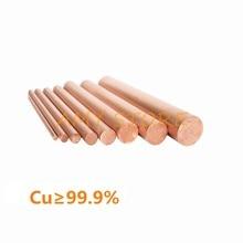 T2 vermelho cobre haste diâmetro 1/2/2.5/3/3. elétrodo redondo da barra da vara 1m 5/4/5/6/7/8/10/12/14/15/16/18/20/25/30/32/35-55mm 200/250mm