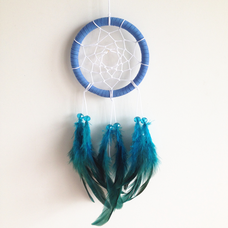 Car Home Hangings With Colorful Feathers And Crystal Beads Feather Dreamcatcher Dreamcatchers