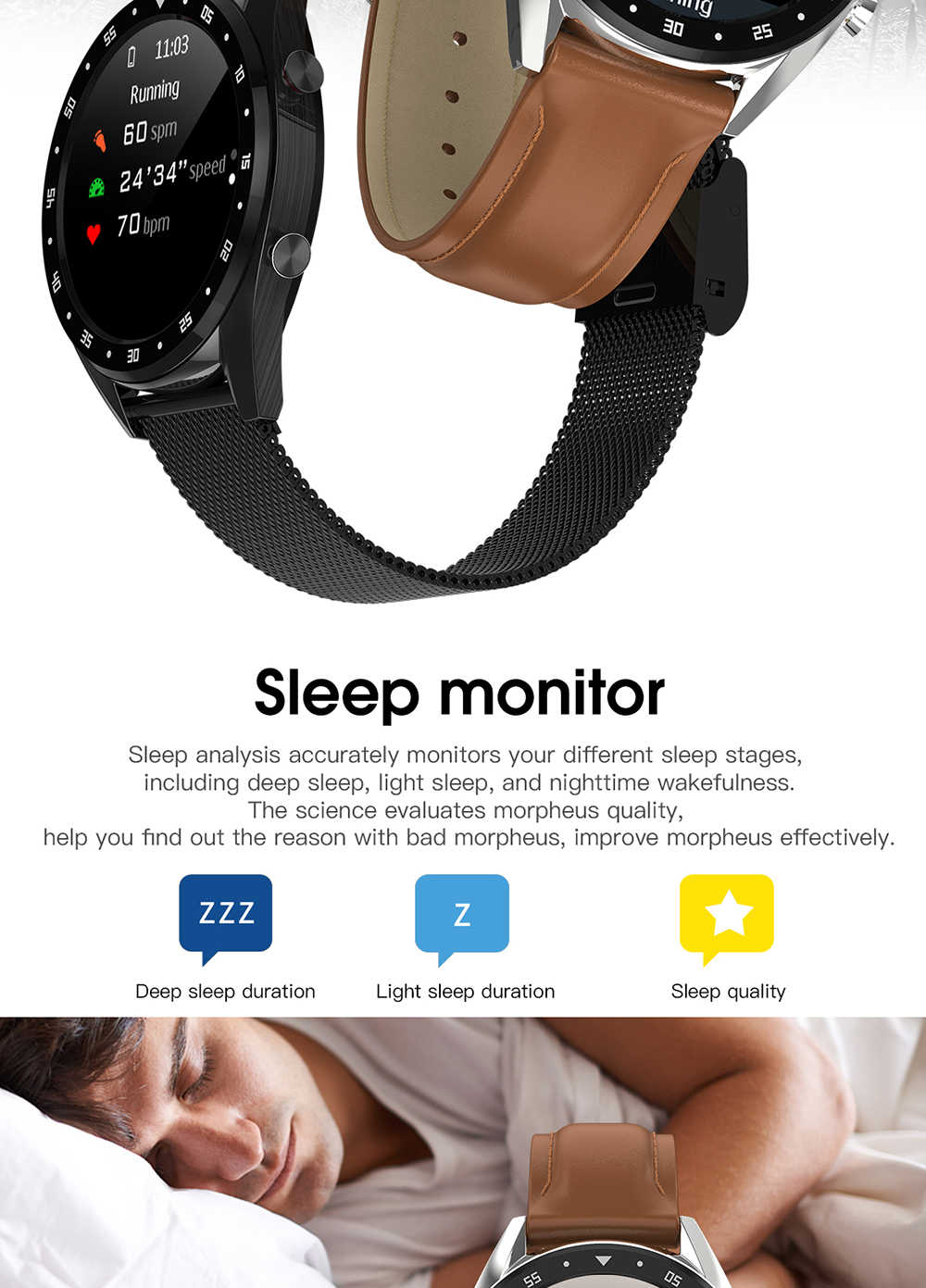 Reloj inteligente L7H con pantalla a Color a la moda reloj de pulsera deportivo para hombres y mujeres con frecuencia cardíaca y presión arterial pulsera para compartir información